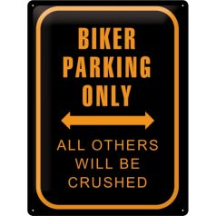 Placa metalica 30X40 Biker Parking Only