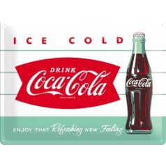 Placa metalica 30X40 Coca-Cola - Ice cold