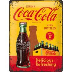 Placa metalica 30X40 Coca-Cola - In Bottles Yellow