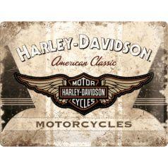 Placa metalica 30X40 Harley-Davidson American Classic Logo