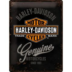 Placa metalica 30X40 Harley-Davidson Genuine
