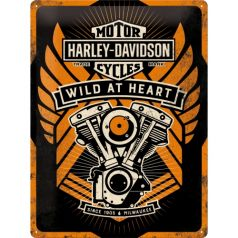 Placa metalica 30X40 Harley-Davidson Wild at Heart