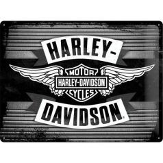 Placa metalica 30X40 Harley-Davidson-Wings Logo Metal
