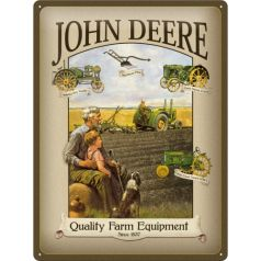 Placa metalica 30X40 John Deere Farm
