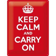 Placa metalica 30X40 Keep calm and carry on