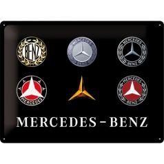 Placa metalica 30x40 Mercedes-Benz Logo Evolution