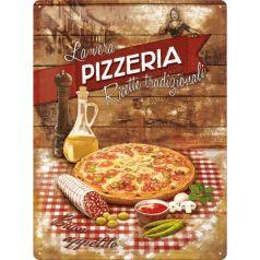 Placa metalica 30X40 Pizzeria La Vera