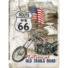 Placa metalica 30X40 Route 66 - National Old Trails Road