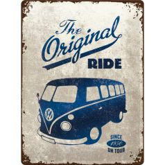 Placa metalica 30x40 Volkswagen Bulli The Original Ride