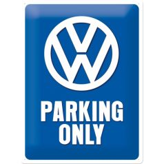 Placa metalica 30X40 VW - Parking Only