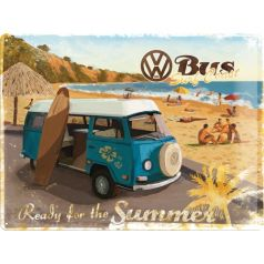 Placa metalica 30X40 VW - Ready for the beach
