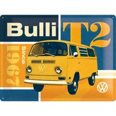 Placa metalica 30X40 VW - T2 Bulli