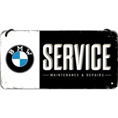 Placa metalica cu snur 10x20 BMW Service