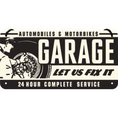 Placa metalica cu snur 10x20 Garage