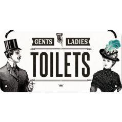 Placa metalica cu snur 10x20 Toilets