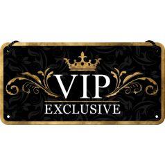 Placa metalica cu snur 10x20 VIP Exclusive