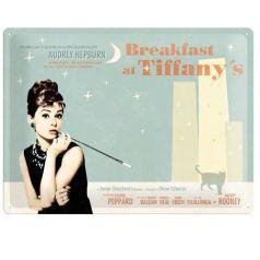 Placa metalica tip  Nu uita sa 30X40  Breakfast at Tiffany's