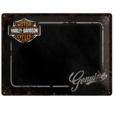Placa metalica tip  Nu uita sa 30X40 Harley-Davidson