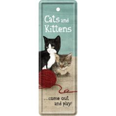 Semn de carte metalic Cats and Kittens