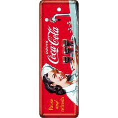 Semn de carte metalic Coca-Cola - Waitress