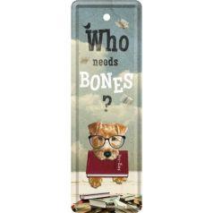 Semn de carte metalic No bones
