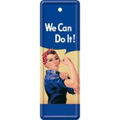 Semn de carte metalic We can do it!