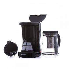 Filtru de cafea Albatros DOLCE 2in1,  680 W,cana de sticla, culoare neagra
