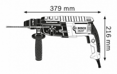 Ciocan rotopercutor SDS-plus GBH 2-28 in valiza profesionala