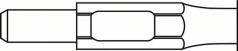 Dalta ascutita cu sistem de prindere hexagonal de 30 mm x 400 mm