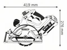 Ferastrau circular GKS 36 V-LI x 2 Acumulatori 2.6 Ah