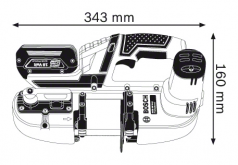 Ferastrau cu banda cu acumulator GCB 18 V-LI  Solo (fara acumulatori si incarcator)