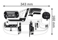 Ferastrau cu banda cu acumulator GCB 18 V-LI  L-BOXX