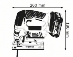Ferastrau vertical GST 18 V-LI B x 2 Acumulatori 4 Ah L-BOXX