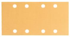 Foaie abraziva C470 pentru slefuitoare cu vibratii, Best for Wood and Paint, 93x186 mm, 8 orificii, G 80