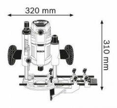 Masina de frezat GOF 1600 CE L-BOXX
