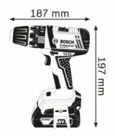 Masina de gaurit cu percutie GSB 18-2-LI x 2 acumulatori 1.5 Ah L-BOXX