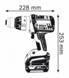 Masina de gaurit cu percutie GSB 18 VE-2-LI x 2 Acumulatori 4.0 Ah L-BOXX