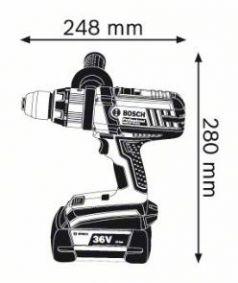 Masina de gaurit cu percutie GSB 36 VE-2-LI x 2 acumulatori 4.0 Ah LBOXX