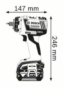 Masina de gaurit si insurubat GSR 14.4 V-EC FC2 x 2 Acumulatori de 4.0 Ah L-BOXX