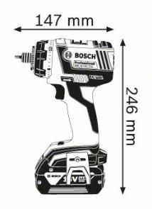 Masina de gaurit si insurubat GSR 18 V-EC FC2 x 2 Acumulatori 4.0 Ah L-BOXX cu adaptor mandrina 13 mm  GFA FC2