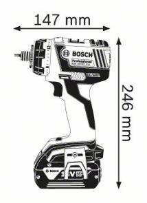 Masina de gaurit si insurubat GSR 18 V-EC FC2 x 2 Acumulatori 4.0 Ah L-BOXX cu 2 adaptoare