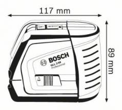 Nivela laser cu linii GLL 2-50 + Suport universal BM 1 Professional  L-BOXX