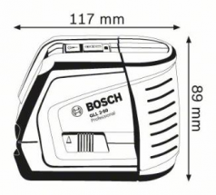 Nivela laser cu linii GLL 2-50 + Receptor laser LR 2 Professional + Suport pentru LR 2 + Suport universal BM 1 Professional  L-BOXX