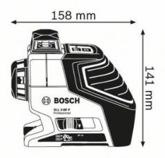 Nivela laser cu linii GLL 2-80 P + Suport universal BM 1 Professional L-BOXX