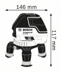 Nivela laser cu linii GLL 3-50 +Suport universal BM 1 Professional  L-BOXX