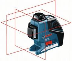 Nivela laser cu linii GLL 3-80 P + Suport universal BM 1 Professional + Suport pentru LR 2 + Receptor laser LR 2 Professional
