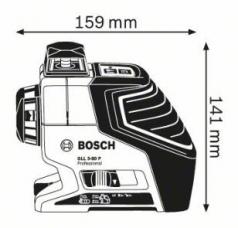 Nivela laser cu linii GLL 3-80 P + Suport universal BM 1 Professional L-BOXX