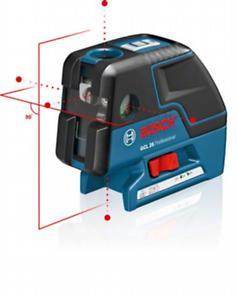 Nivela laser cu puncte GCL 25 + Suport universal BM 1 Professional L-BOXX + 4 baterii de 1.5 V LR6