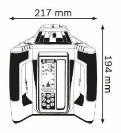 Nivela laser rotativa GRL 500 H + LR 50