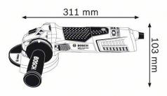 Polizor unghiular GWS 15-125 CIEX